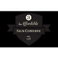 A Affordable Sign logo